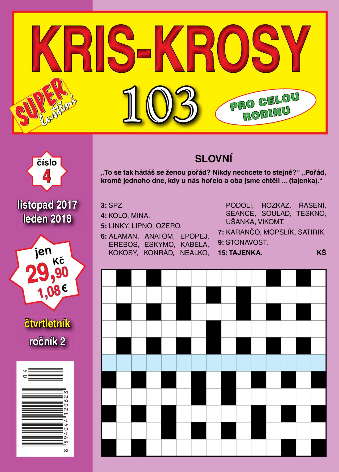 103 Kris krosy Super luštění Turpress