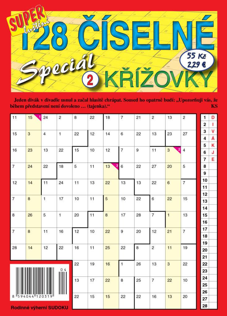 128 číselné křížovky speciál Turpress Super Luštění