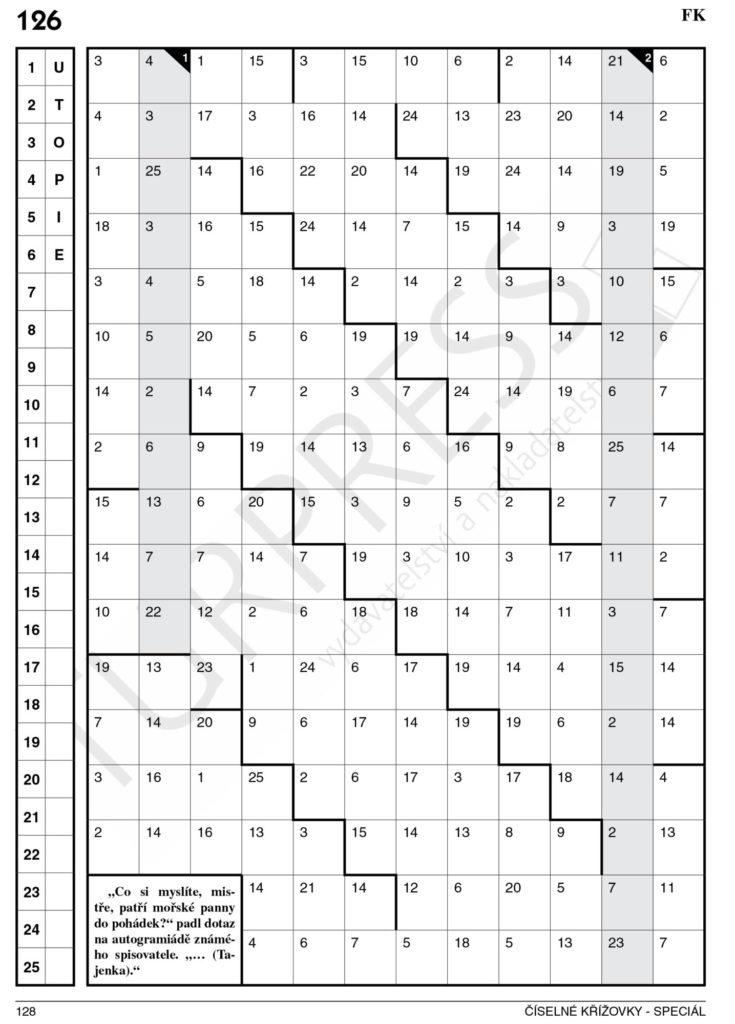 128 číselné křížovky speciál Turpress