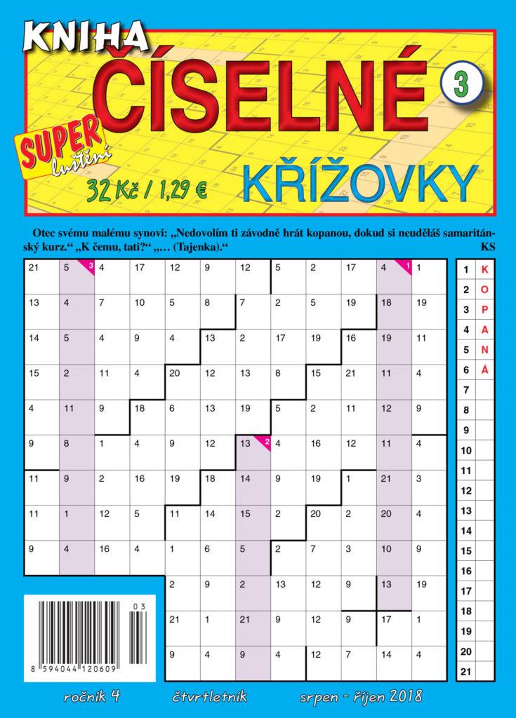 Kniha číselné křížovky od Turpressu Super Luštění