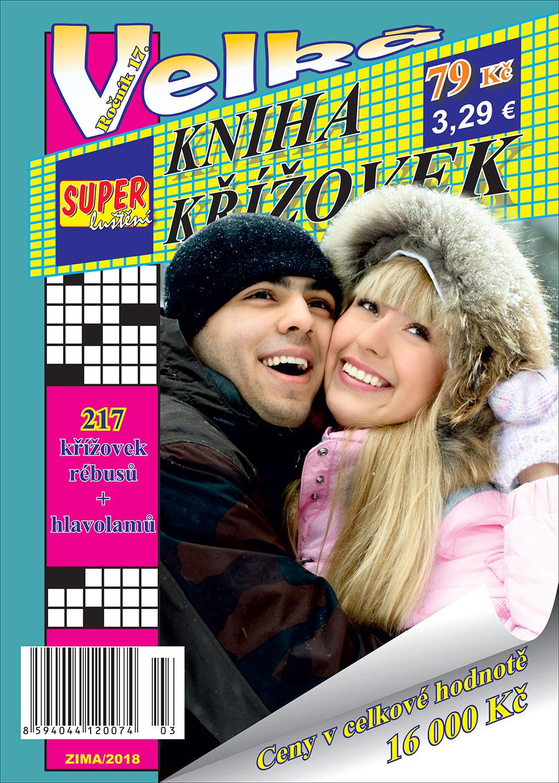 Kniha křížovek zima 2018