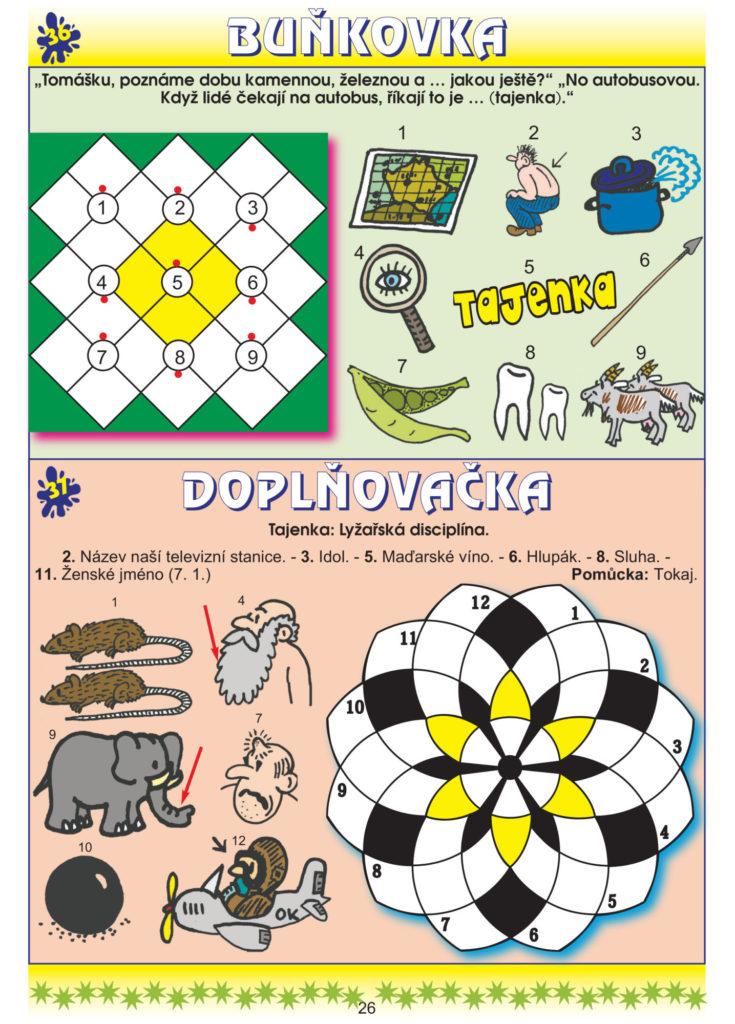 Velká kniha pro malé luštitelé Turpress Super luštění Doplňovačka Buňkovka