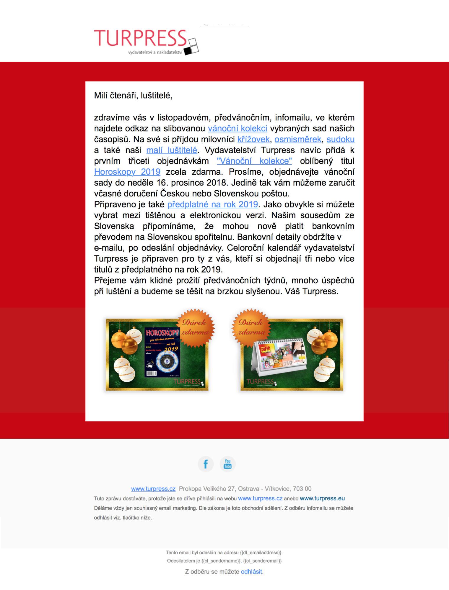 Turpress info-mail náhled