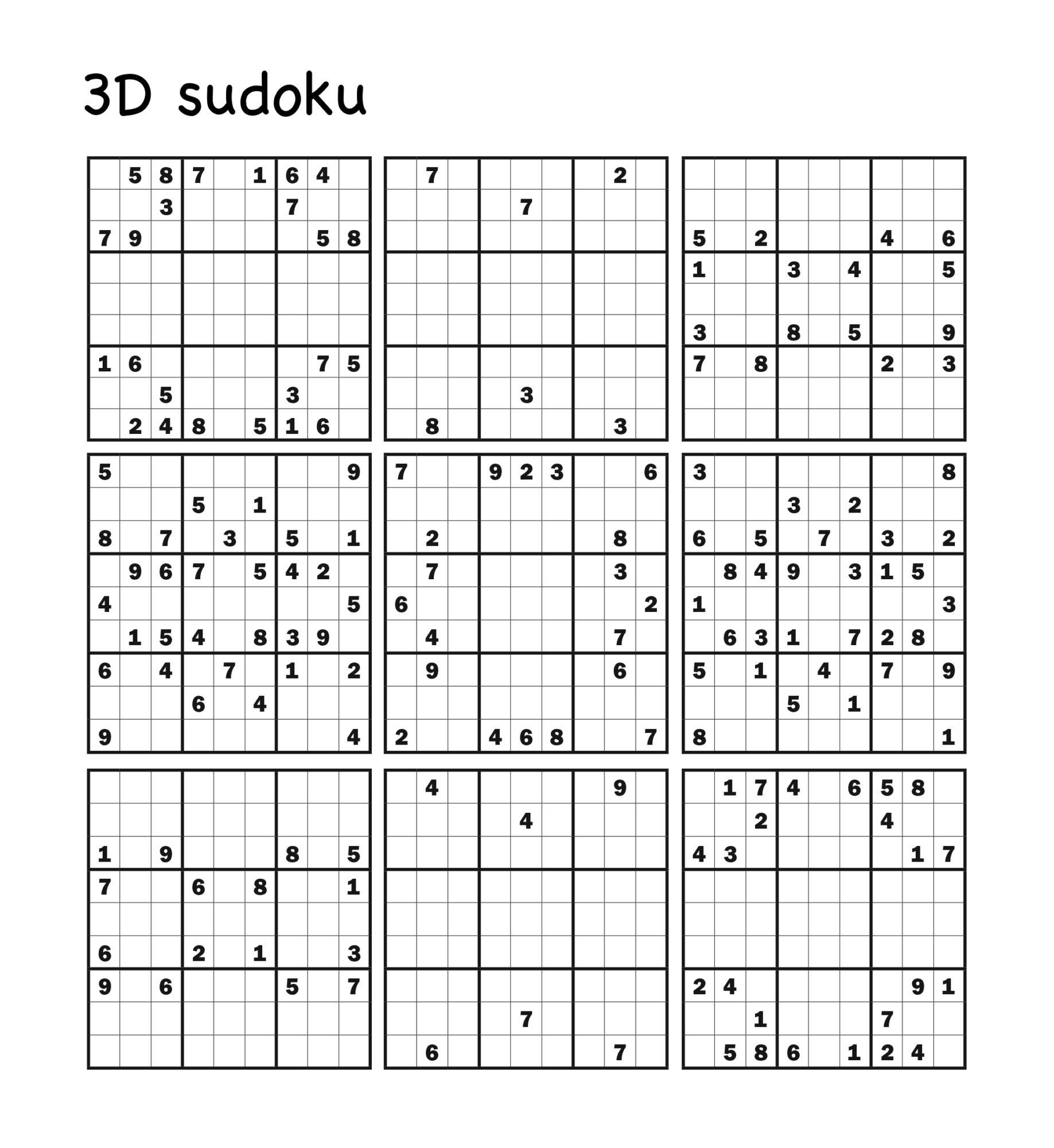 3D sudoku Turpress