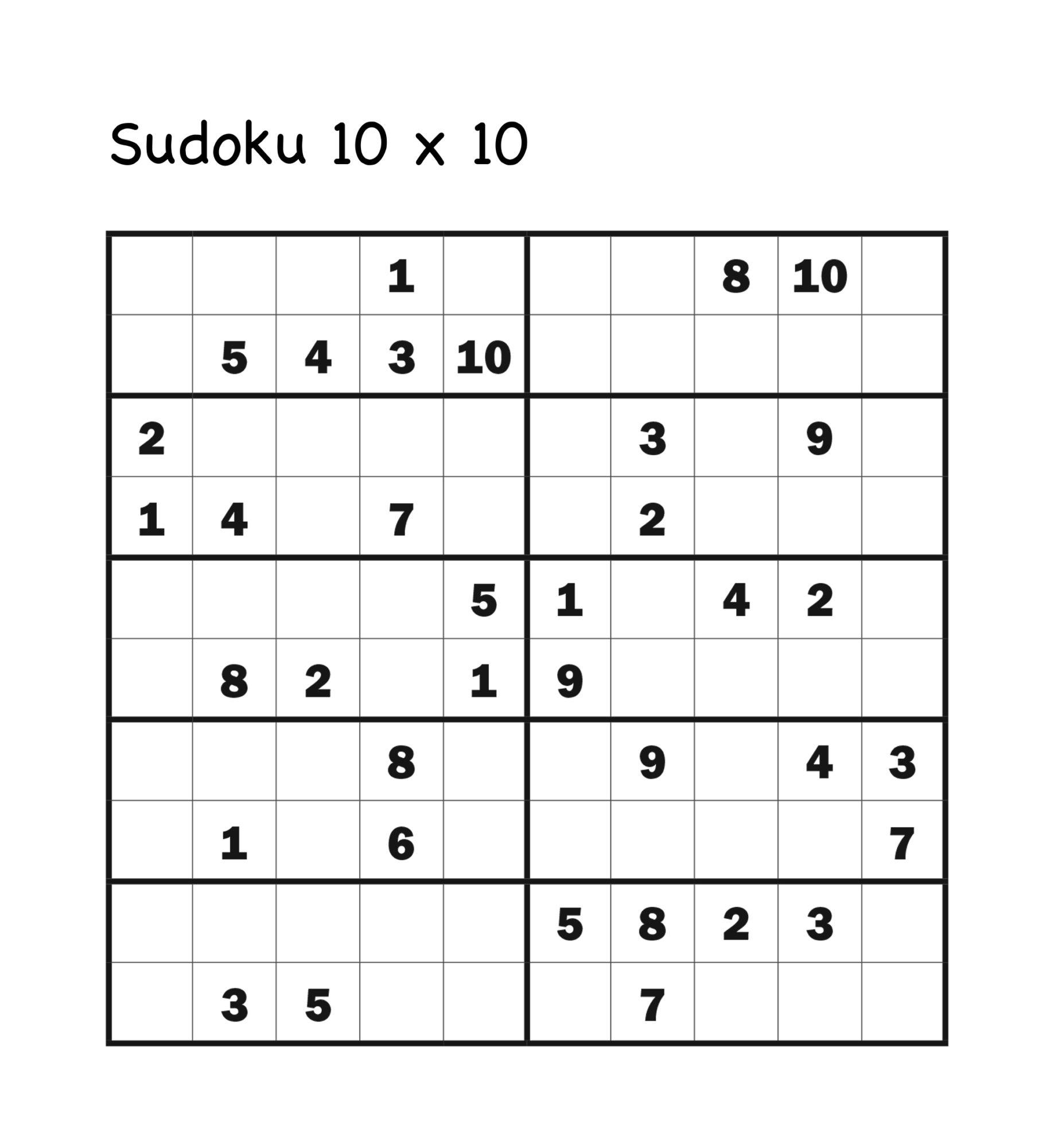 SUDOKU 10 x 10 Turpress