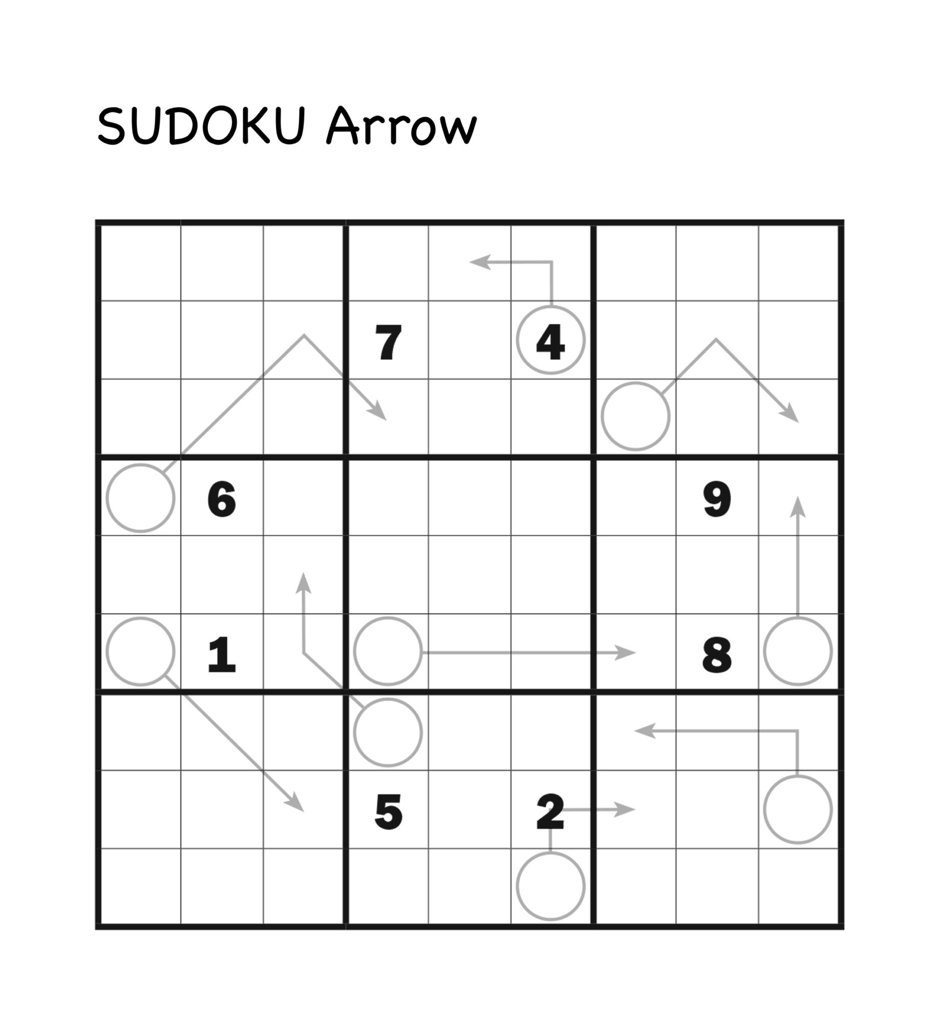 Sudoku arrow Turpress