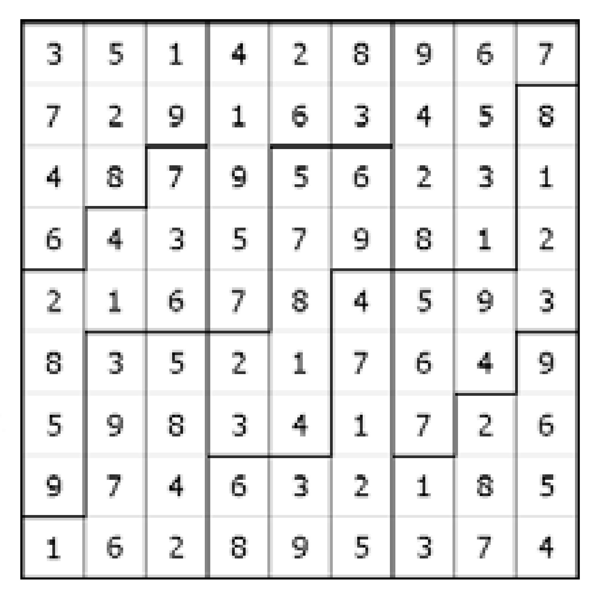 Vyluštěné nepravidelné sudoku vydavatelství Turpress