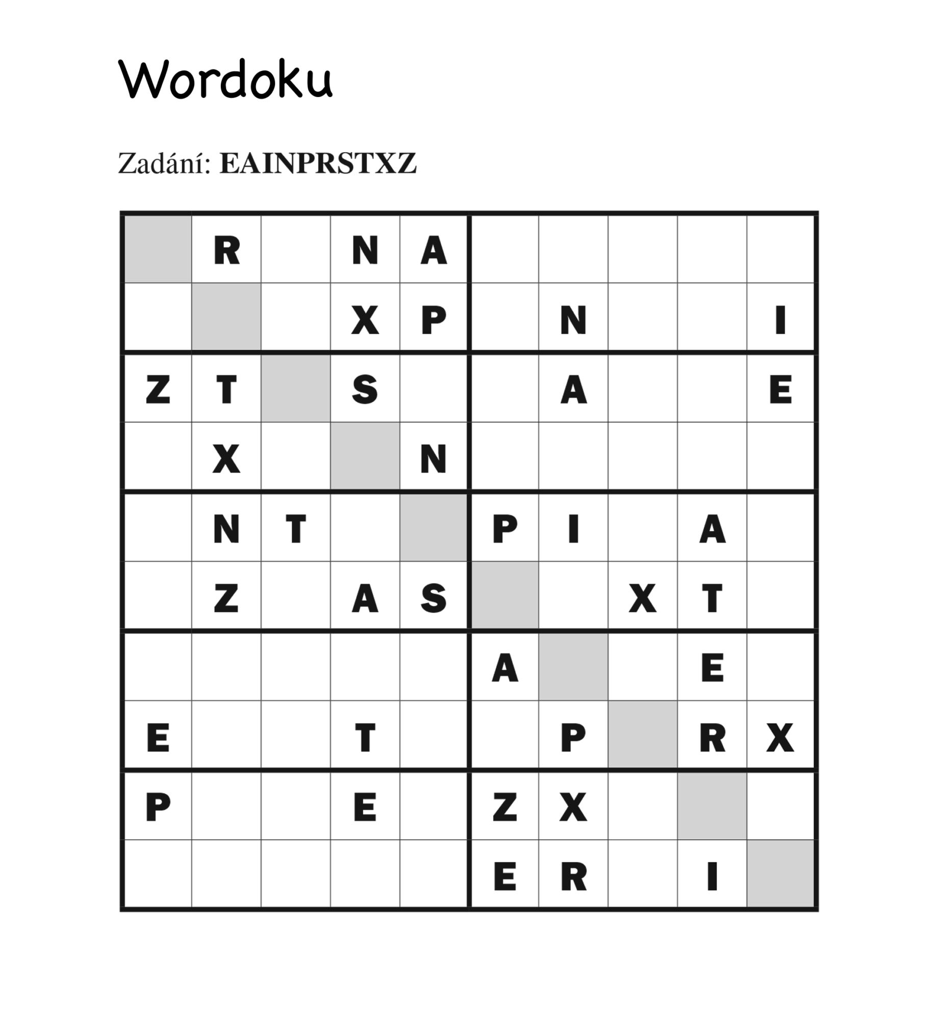 Wordoku Turpress