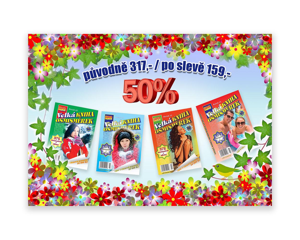 Jarní slevové balíčky 4x Velká kniha osmisměrek vydavatelství Turpress.