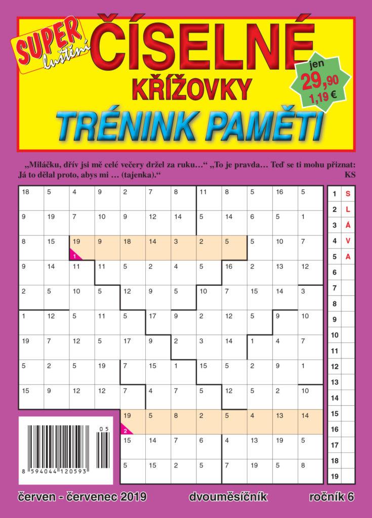 Číselné křížovky - trénink paměti vydavatelství Turpress