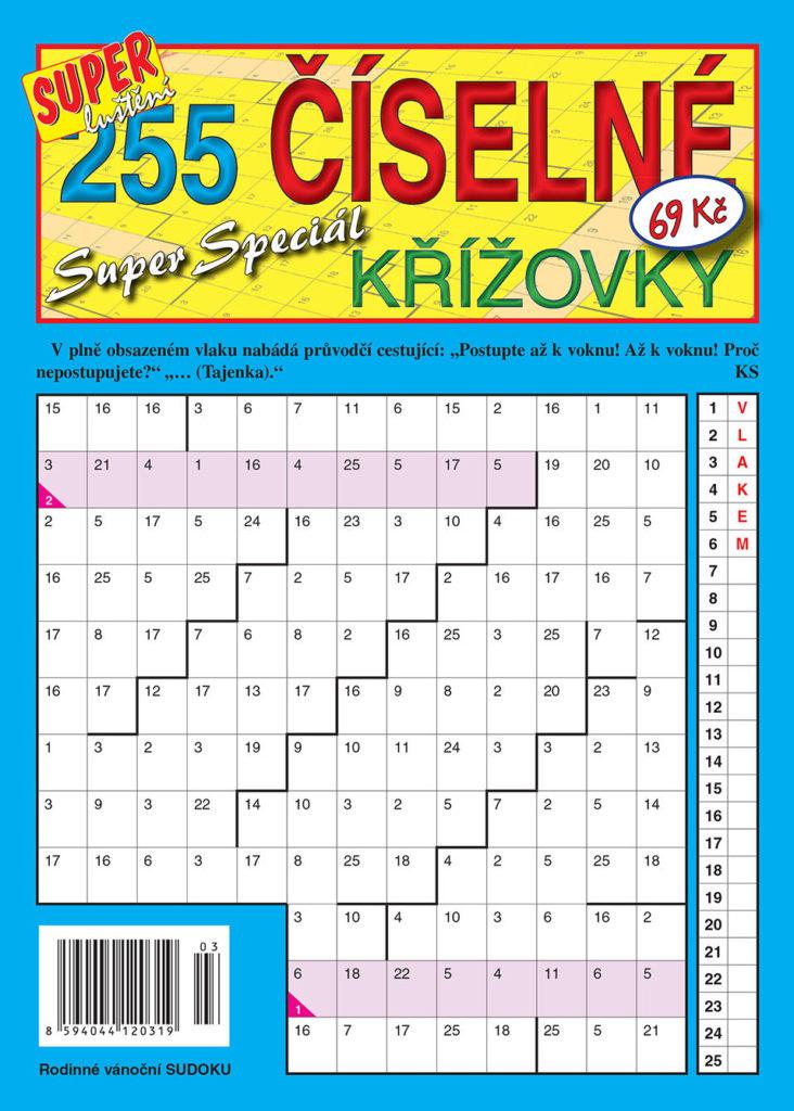 255 číselné křížovky