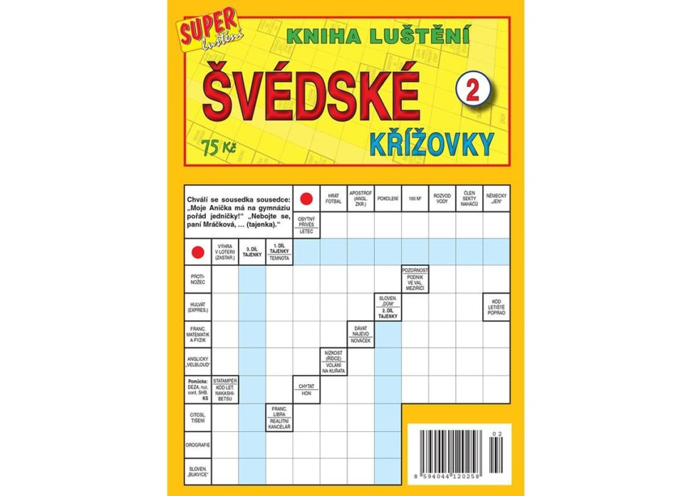 Kniha luštění švédské křížovky 1