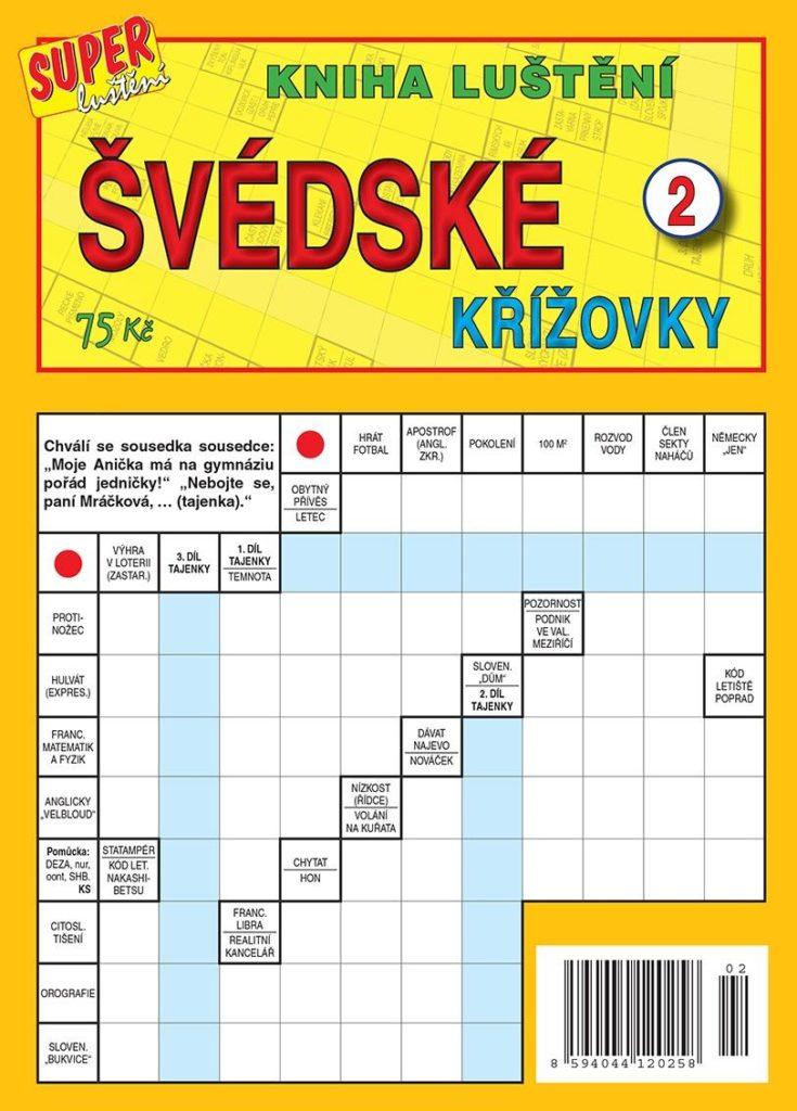 Kniha luštění švédské křížovky