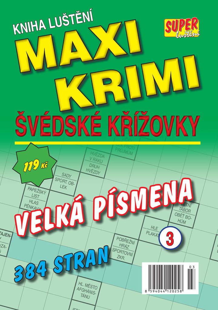 MAXI KRIMAXI KRIMI Kniha luštění švédské křížovkyMI Kniha luštění švédské křížovky